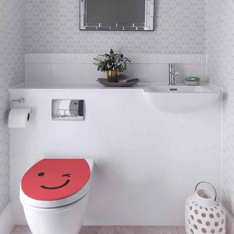 Stickers autocollant Smiley Clin d'oeil Rouge