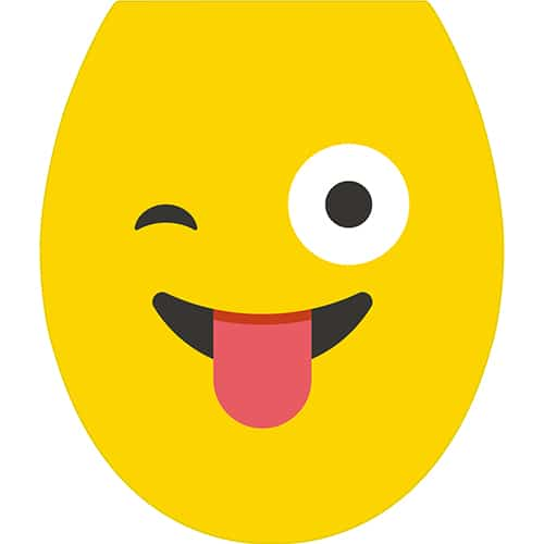 Sticker Smiley jaune qui tire la langue