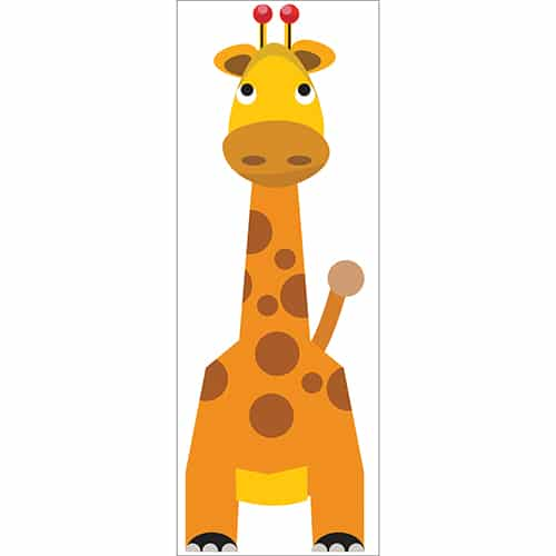 Sticker autocollant Girafe pour thèmes enfants