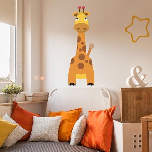 Sticker mural Girafe pour enfants
