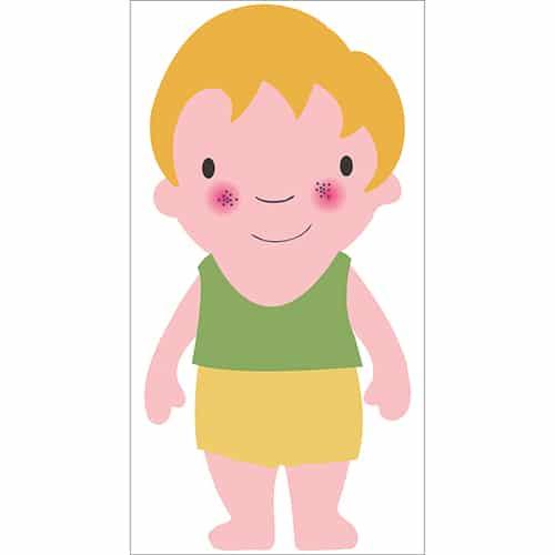 Sticker Enfant Blond pour enfants