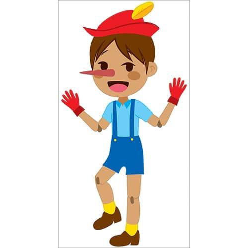 Sticker Pinocchio pour enfants