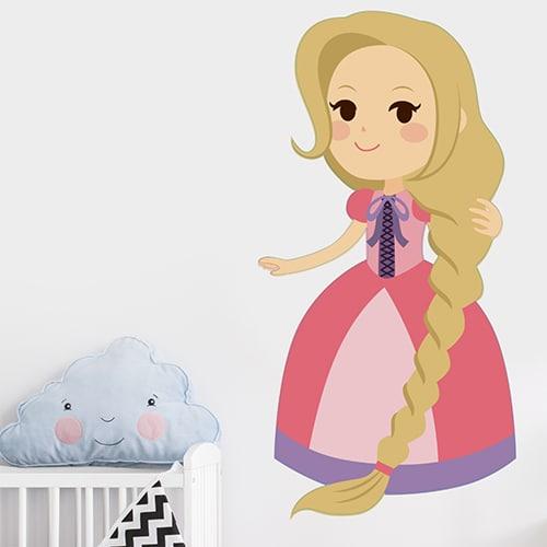 Adhésif mural Princesse pour enfants mis en ambiance dans la déco d'une chambre pour bébé fille
