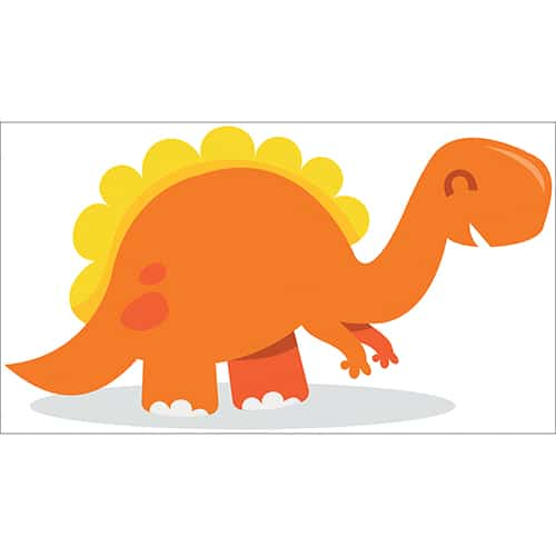 Sticker Dinosaure Orange et Jaune pour enfants