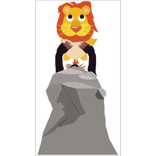 Sticker Roi Lion pour enfants