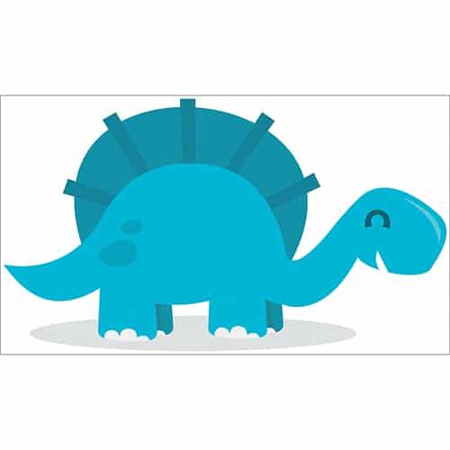 Sticker Dinosaure Bleu pour enfants