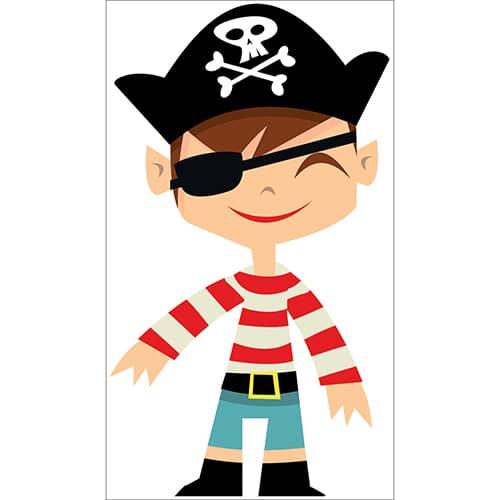 Sticker Garçon Pirate pour enfants