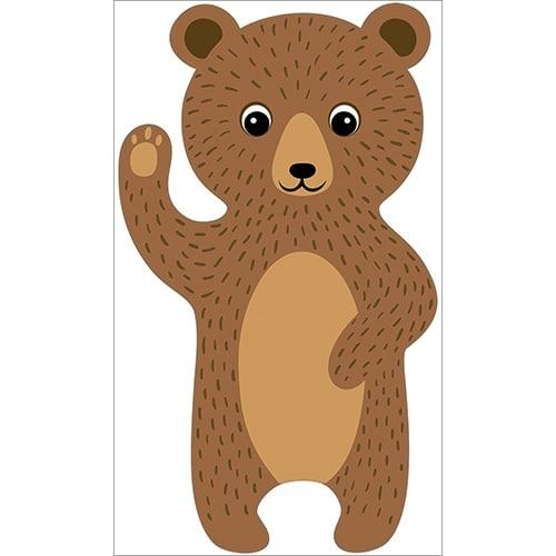 Sticker Ours Brun pour enfants