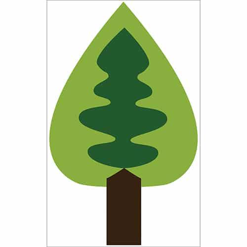 Sticker adhésif Arbre vert enfants