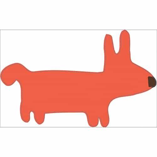 adhésif dessin chien Orange pour enfants