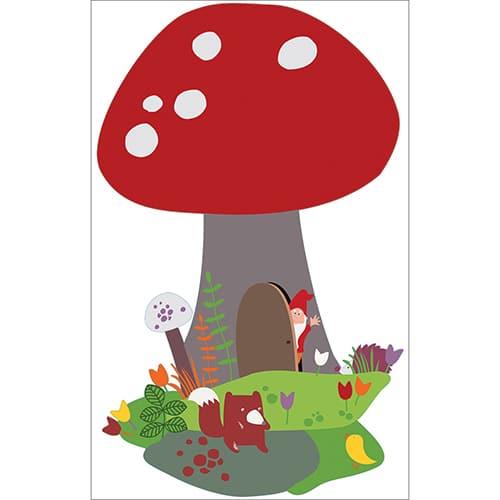 Sticker adhésif Champignon enfants