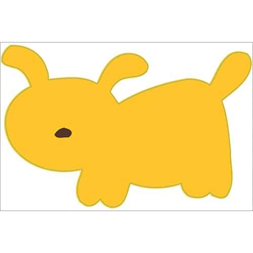 stickers dessin chien Jaune pour enfants