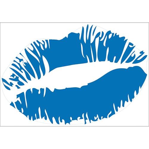 Sticker Baiser Bleu
