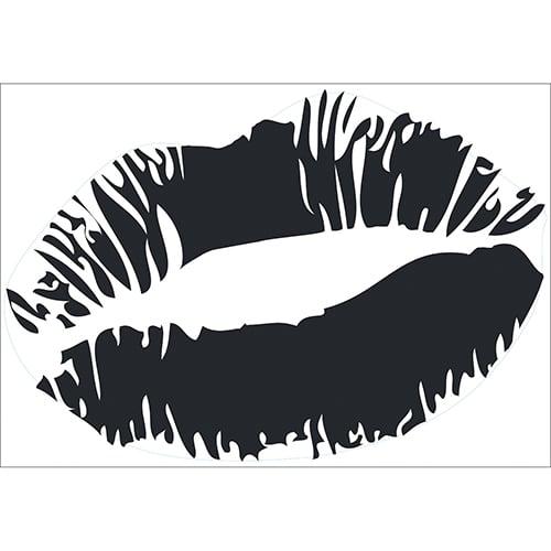Sticker Baiser Noir