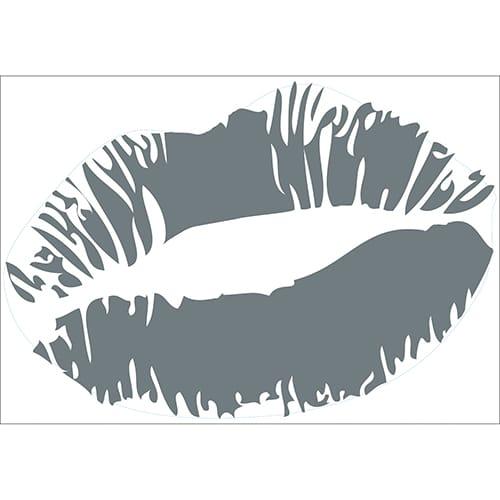 Sticker Baiser Gris