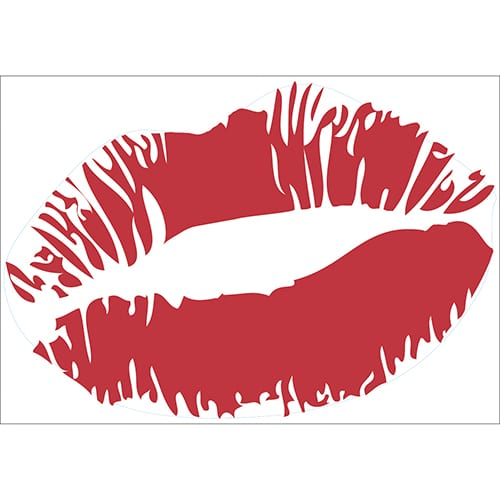 Sticker Baiser Rouge