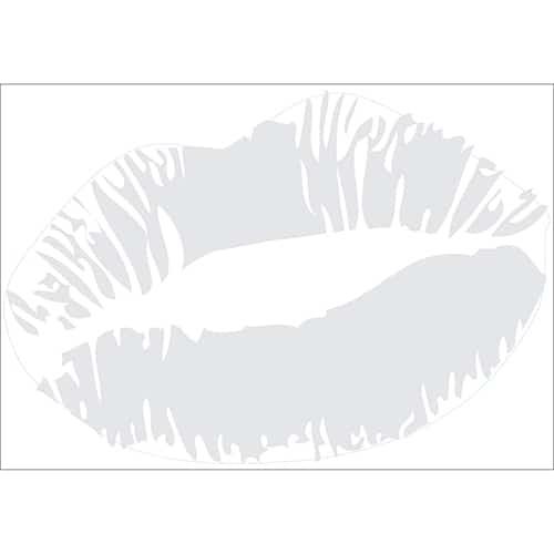 Sticker Baiser Gris Clair