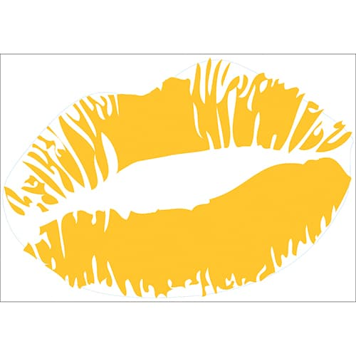 Sticker Baiser Jaune