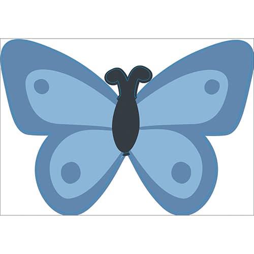 Sticker Papillon bleu pour enfants