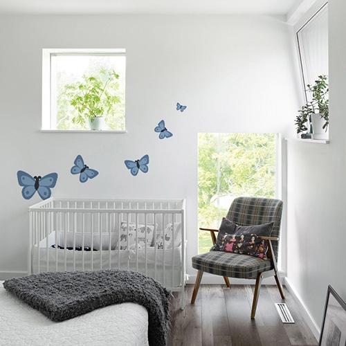 Sticker adhésif Papillon chambre enfants