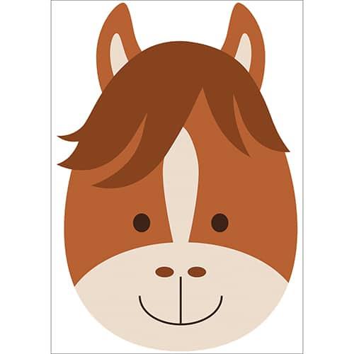 Sticker Tête de Cheval pour enfants
