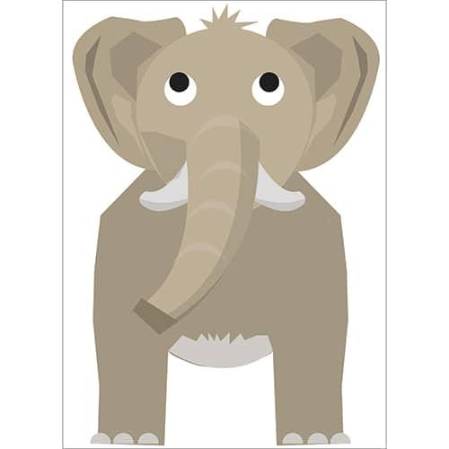 Sticker Éléphant pour enfants