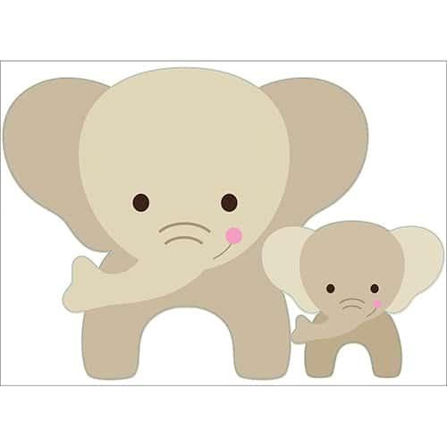 Autocollant Éléphant pour enfants