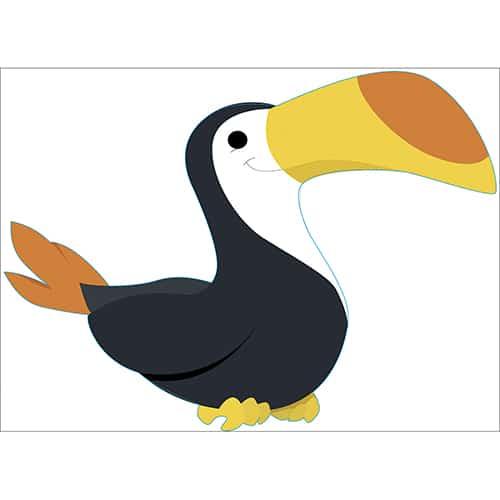 Sticker Toucan pour enfants