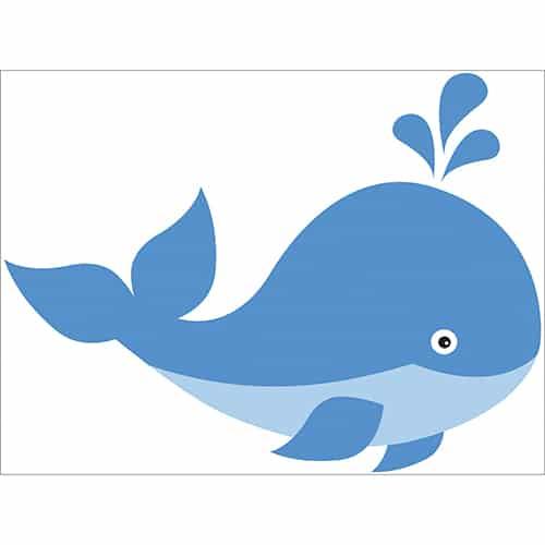 Sticker Baleine pour enfants
