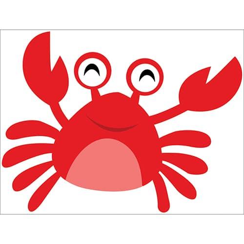 Sticker Crabe rouge pour enfants