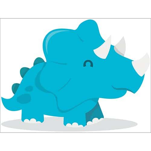 Sticker Dinosaure bleu avec ombre pour enfants
