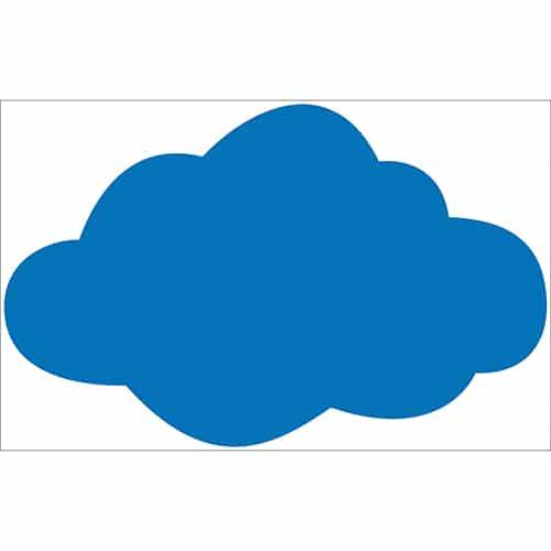 Sticker Nuage Bleu Foncé