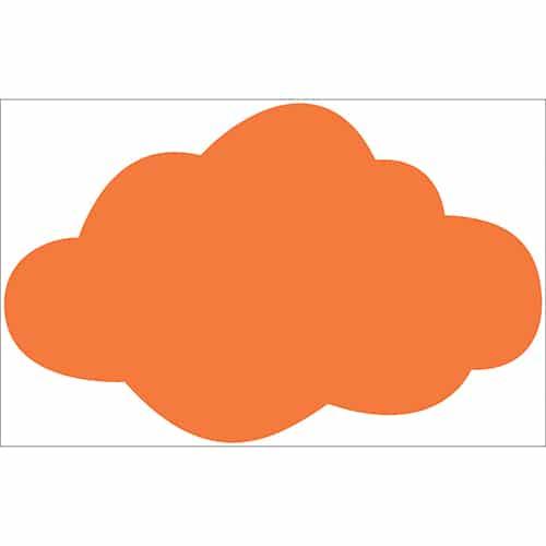Adhésif Nuage Orange pour enfants