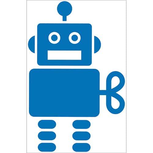 Autocollant Robot Bleu pour chambre d'enfant