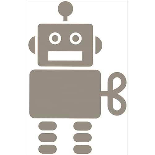 Autocollant Robot Taupe pour enfants
