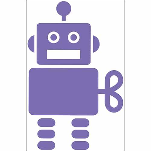 Sticker Robot Violet pour enfants