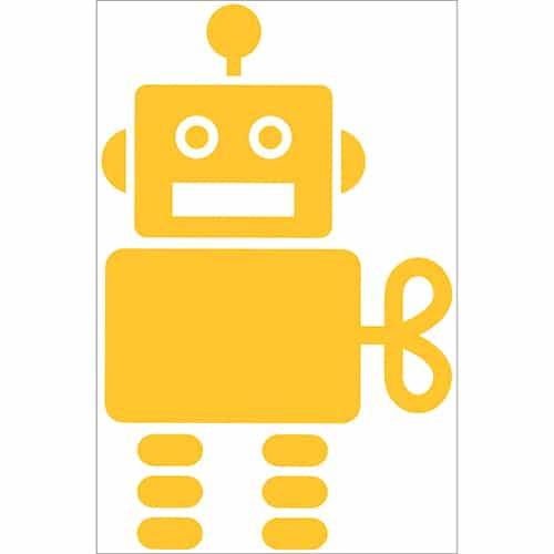 Sticker Robot Jaune pour enfants