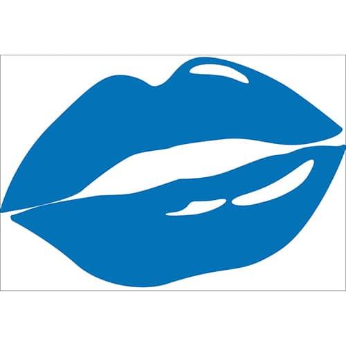 Sticker Bouche Bleue
