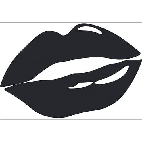 Sticker bouche Noire