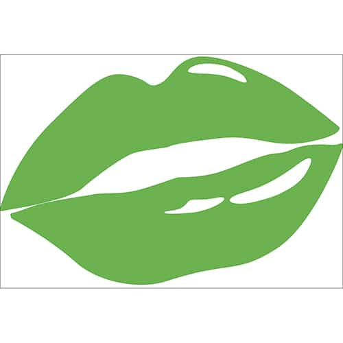Sticker bouche verte