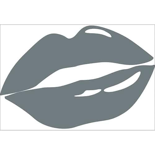 Sticker bouche gris foncé