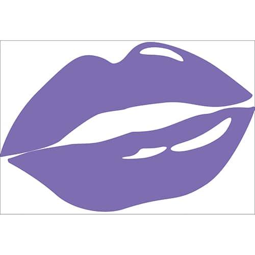 Sticker lèvres Violettes