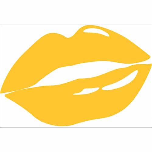Sticker lèvres Jaunes