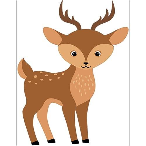 Sticker Chevreuil pour enfants