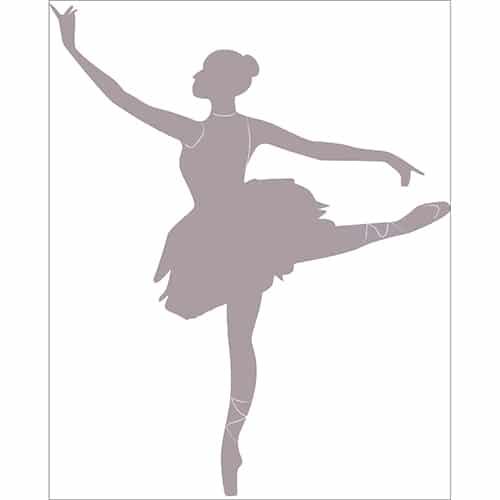 Sticker adhésif Danseuse Ombre