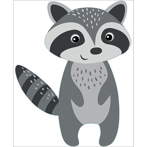 Sticker Raton Laveur pour enfants