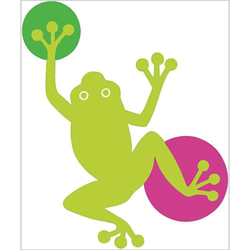 Sticker dessin Grenouille verte enfants