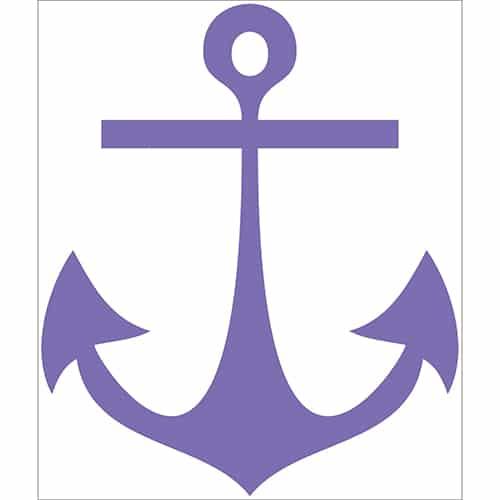 Sticker Ancre Violette