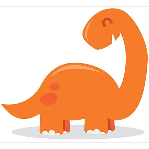 Sticker Dinosaure orange pour enfant