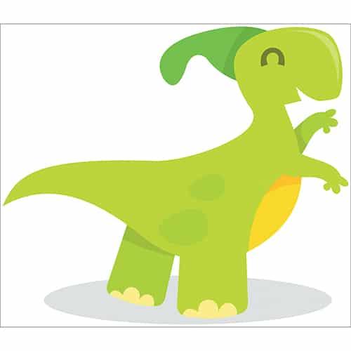 Sticker Dinosaure vert pour enfant